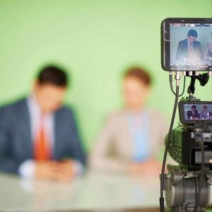 Aufnahme im TV-Studio